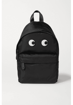 Anya Hindmarch - Eyes Leather-trimmed Shell Backpack - Black