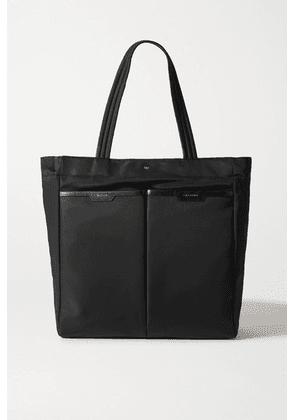 Anya Hindmarch - Nevis Leather-trimmed Shell Tote - Black