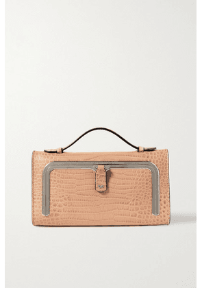 Anya Hindmarch - Postbox Mini Croc-effect Leather Tote - Beige