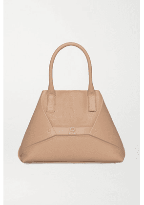 Akris - Aicon Small Embossed Textured-leather Tote - Beige