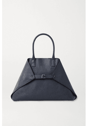 Akris - Ai Medium Textured-leather Tote - Navy