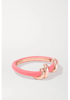 Bea Bongiasca - Baby Vine 9-karat Rose Gold And Enamel Ring - Pink