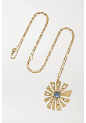 Brooke Gregson - 18-karat Gold, Sapphire And Diamond Necklace - One size