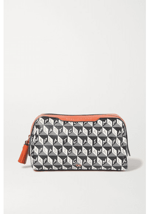 Anya Hindmarch - + Net Sustain Girlie Stuff Leather-trimmed Printed Coated-canvas Cosmetics Case - Navy
