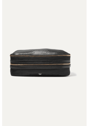 Anya Hindmarch - Textured Leather-trimmed Shell Jewelry Case - Black