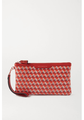 Anya Hindmarch - + Net Sustain I Am A Plastic Bag Leather-trimmed Printed Coated-canvas Pouch - Orange