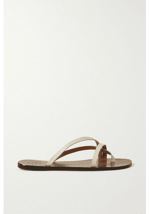 ATP Atelier - Anise Leather Sandals - Ivory