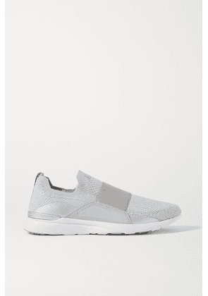 APL Athletic Propulsion Labs - Techloom Bliss Mesh And Neoprene Slip-on Sneakers - Silver