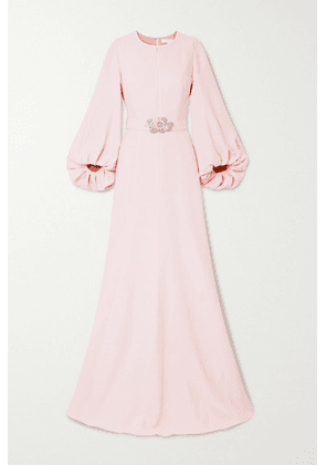 Andrew Gn - Embellished Crepe Gown - Pastel pink