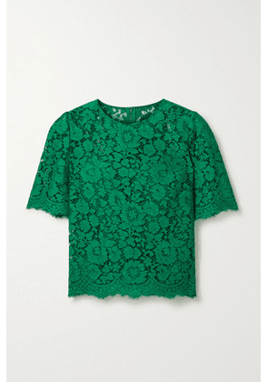 Dolce & Gabbana - Corded Lace Top - Forest green