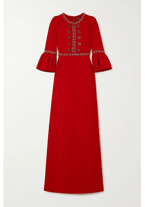 Andrew Gn - Crystal-embellished Crepe Gown - Red
