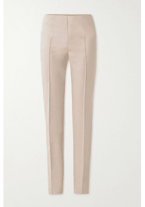 Akris - Melissa Cotton-blend Slim-leg Pants - Beige