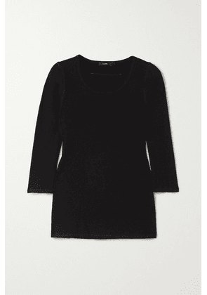 Bassike - Ribbed Stretch Organic Cotton-jersey Top - Black