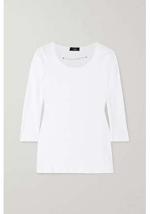 Bassike - Ribbed Stretch Organic Cotton-jersey Top - White