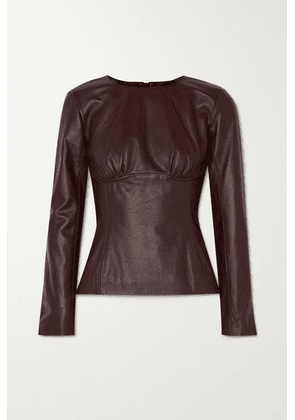 Christopher Esber - Charli Gathered Leather Top - Purple