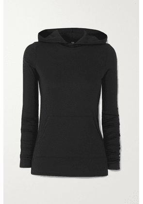 Commando - Luxury Ribbed Stretch Modal And Pima Cotton-blend Hoodie - Black