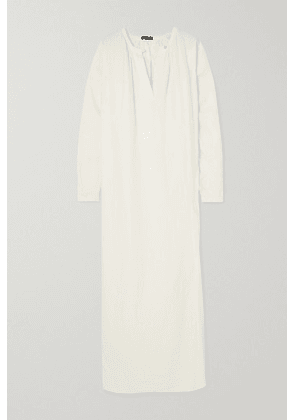 Bassike - + Space For Giants Linen And Jersey Maxi Dress - White