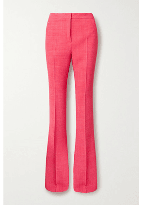 Akris - Checked Wool-blend Flared Pants - Bubblegum