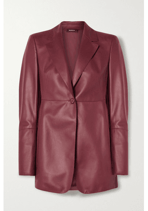 Akris - Leather Blazer - Burgundy