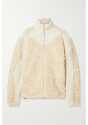 GmbH - Ercan Wool-blend Felt And Faux Shearling Jacket - Off-white