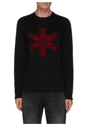 'SNOWFLAKE' Merino Wool Crewneck Sweater