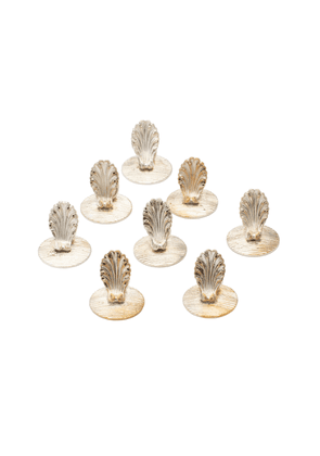 Gray Antiques Christofle Silverplated Place Card Holders, Set Of Eight