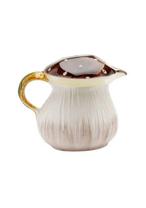 Gray Antiques Italian Glazed Pitcher In The Form Of A Mushroom
