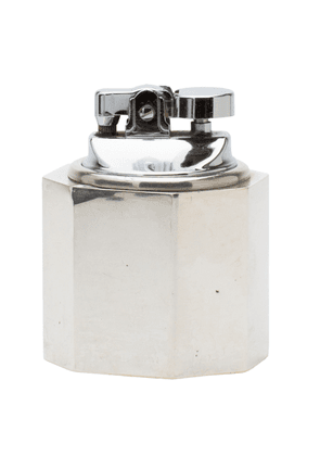 Gray Antiques Cartier Sterling Silver Art Deco Weighted Table Lighter