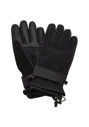 Moncler Grenoble Leather-Paneled Tech-Twill Ski Gloves