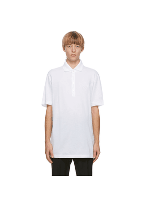 Dolce and Gabbana White Embroidered Logo Polo