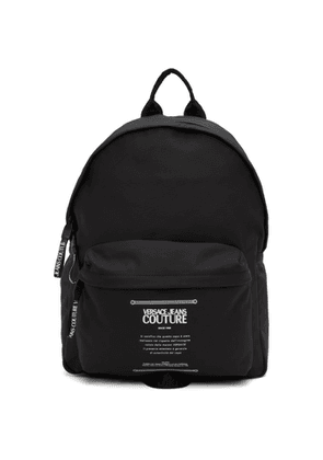 Versace Jeans Couture Black Warranty Label Backpack