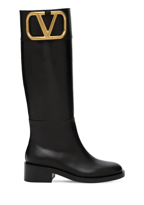 45mm Leather Tall Boots