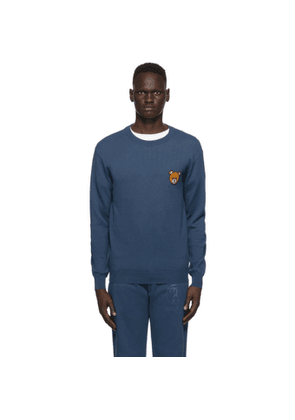 Moschino Blue Teddy Crewneck Sweater