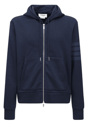 Tonal 4 Bar Cotton Sweatshirt Hoodie