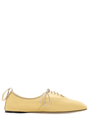 10mm Soft Leather Lace-up Derby Flats