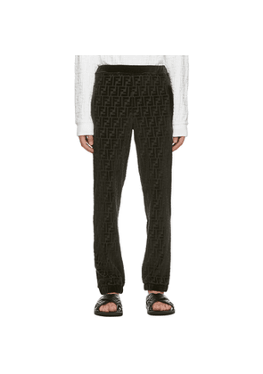 Fendi Green Forever Fendi Embossed Lounge Pants