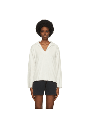 ERL Off-White Rugby Long Sleeve Polo