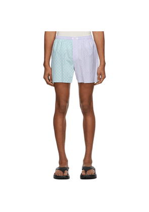 ERL Purple and Green Check Boxer Shorts