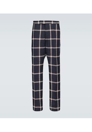 Prince of Wales checked wool pants