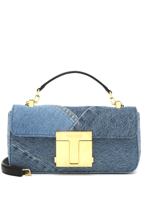 001 Medium denim shoulder bag