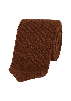 Cocoa Brown Knitted Tie