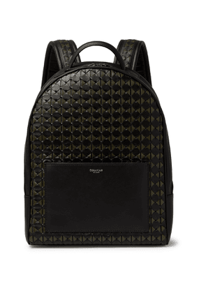 Serapian - Compact Mosaico Woven Leather Backpack - Men - Green