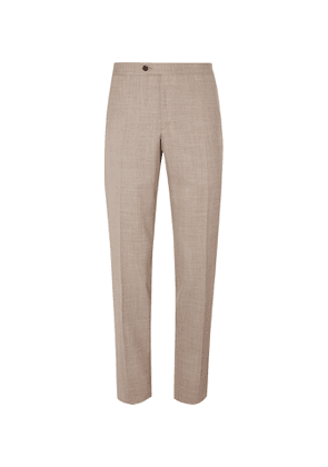 Thom Sweeney - Slim-Fit Tapered Wool Suit Trousers - Men - Neutrals