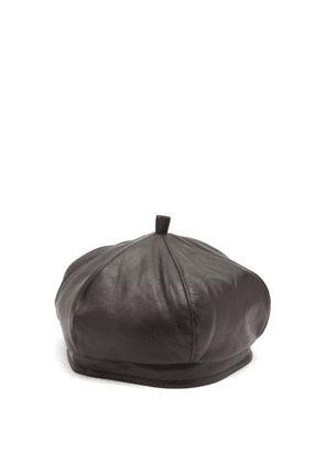 Our Legacy - Leather Beret - Mens - Black