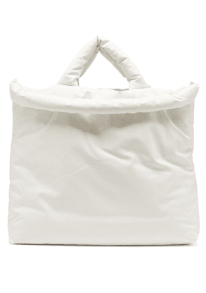 Kassl Editions - Oil Large Padded Cotton-blend Canvas Tote Bag - Mens - White