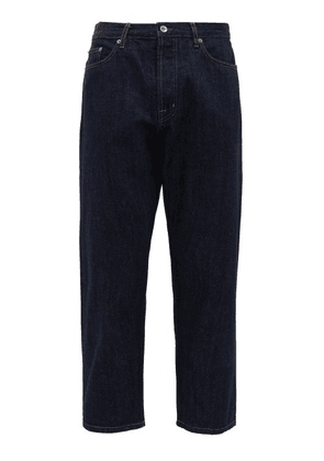 Albam - Low-rise Cotton Tapered Jeans - Mens - Light Blue