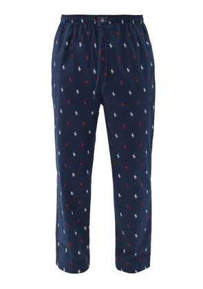 Polo Ralph Lauren - Logo-print Cotton Pyjama Trousers - Mens - Navy Multi