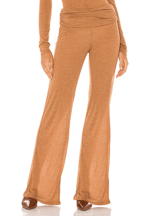 Michael Costello x REVOLVE Sheer Relaxed Pant in Tan. Size M,S,XL,XS,XXS.