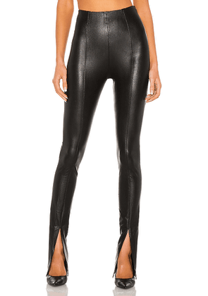Amanda Uprichard X REVOLVE Malta Leather Pants in Black. Size M,S,XS.