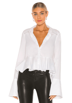 Caroline Constas Maris Top in White. Size M.